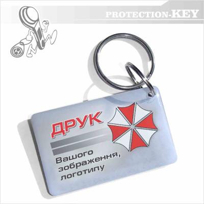 Epoxy-брелок з кодом Mifare 1k з Вашим логотипом 26*42 мм