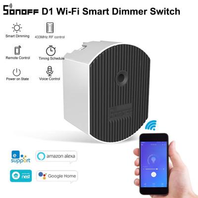 WIFI вимикач-диммер SONOFF D1 з можливістю управління як зі смартфона так і з пульта