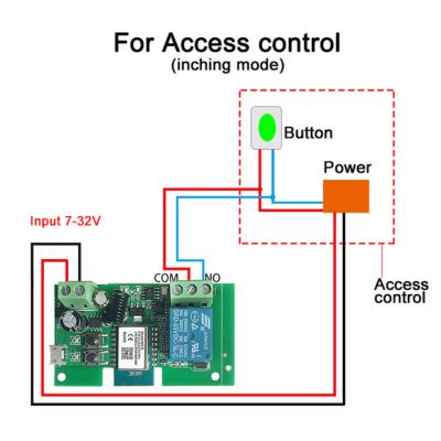 Без корпусне WiFi + Радіо реле - вимикач для розумного будинку від 5 до 32V