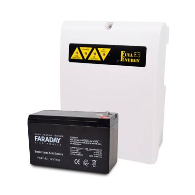 Комплект блок безперебійного живлення Full Energy BBGP-125 + акумулятор 12В 7 Ач для ДБЖ Faraday Electronics FAR7-12