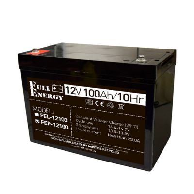 Акумулятор 12В 100 Аг для ДБЖ Full Energy FEP-12100