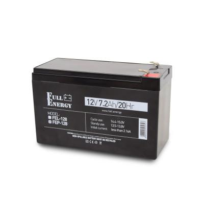 Акумулятор 12В 7.2 Аг для ДБЖ Full Energy FEP-128
