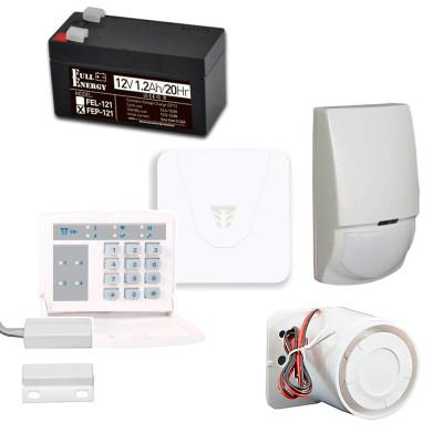 Комплект охоронної сигналізації з Orion NOVA XS, клавіатурою, датчиком руху, герконом, сиреною, акумулятором