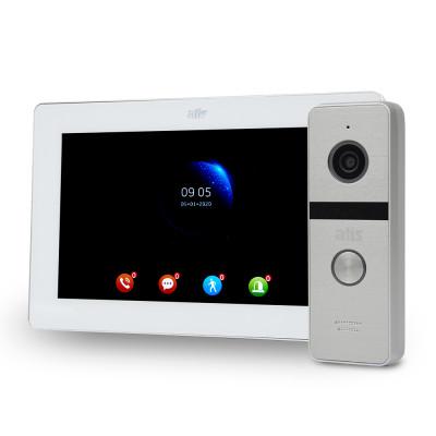 """Комплект Wi-Fi відеодомофонa 7"""" ATIS AD-770FHD/T-White з підтримкою Tuya Smart + AT-400HD Silver"""