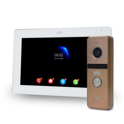 """Комплект Wi-Fi відеодомофонa 7"""" ATIS AD-770FHD/T-White з підтримкою Tuya Smart + AT-400HD Gold"""