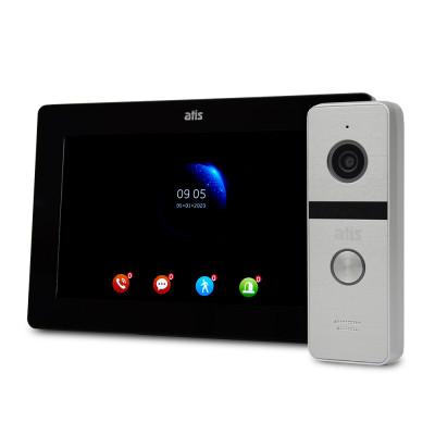 """Комплект Wi-Fi відеодомофонa 7"""" ATIS AD-770FHD/T-Black з підтримкою Tuya Smart + AT-400FHD Silver"""