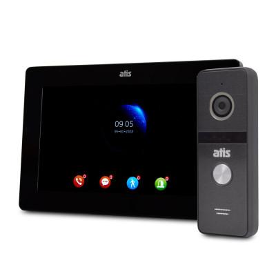 """Комплект Wi-Fi відеодомофонa 7"""" ATIS AD-770FHD/T-Black з підтримкою Tuya Smart + AT-400HD Black"""