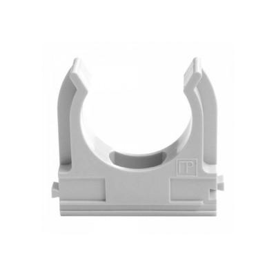 Кліпса для гофри 16 мм (100 шт/уп) сіра