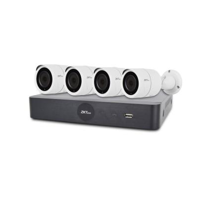 IP комплект відеоспостереження з 4 камерами ZKTeco KIT-8504NER-4P/4-BS855L11B