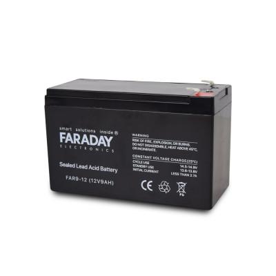 Акумулятор 12В 9 Аг для ДБЖ Faraday Electronics FAR9-12