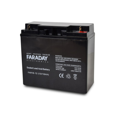 Акумулятор 12В 18 Аг для ДБЖ Faraday Electronics FAR18-12